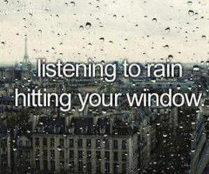 rain, window, and quote image
