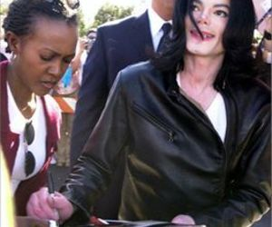 fan, michael jackson, and sign image