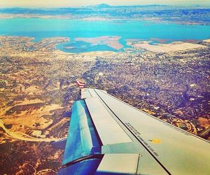 plane, travel, and sanfranisco image