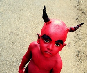 boy, Devil, and red image
