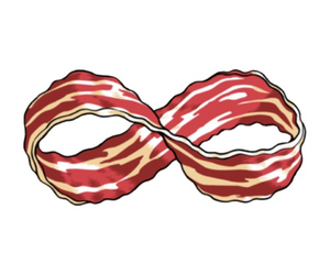 overlay, transparent, and bacon image