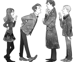 sherlock, doctor who, and clara image
