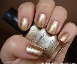 avon, gold, and nail polish image