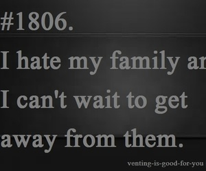 family, hate, and i hate image