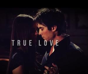delena, tvd, and true love image