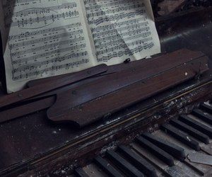 old and piano image