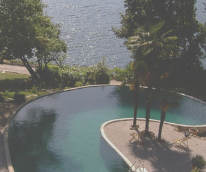 pool, nature, and summer image