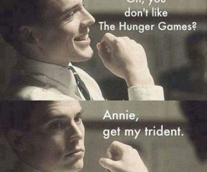annie, hunger games, and finnick image