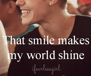 justin, smile, and believe image