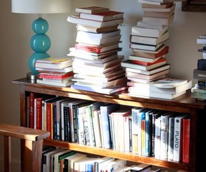 furniture, books collection, and wooden materials image