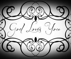 black and white, god, and heart image