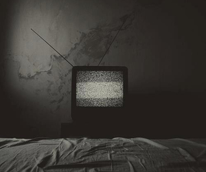 black and white and tv image