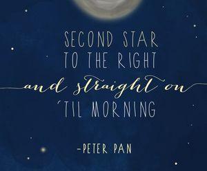 peter pan, stars, and disney image