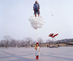 balloons, li wei, and child image