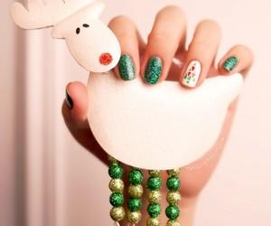 chrismas, nail art, and nail polish image