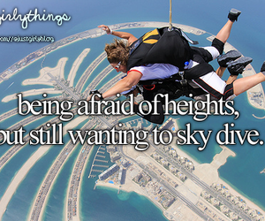 heights, afraid, and Dubai image
