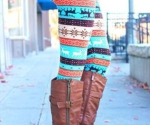 aztec, blue, and boots image