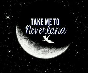 neverland, love, and peterpan image