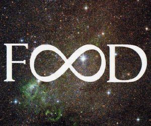 food, quote, and infinity image