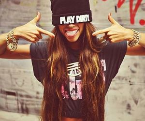 girl, swag, and play dirty image