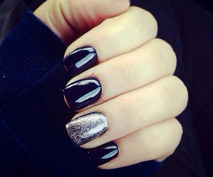 black, nails, and girl image