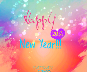 colorful and happy new year image