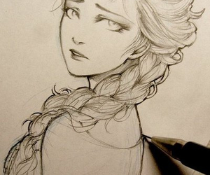 frozen, elsa, and drawing image