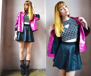 colorful, outfit, and fashion image