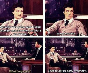 funny, josh hutcherson, and hunger games image