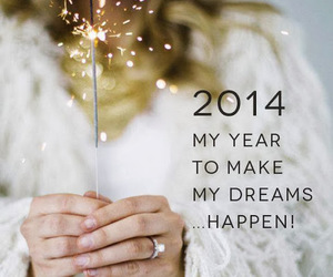 Dream, 2014, and new year image