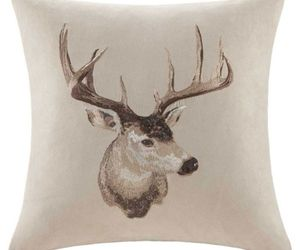 comfortable, deer, and pillow image