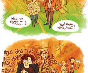 doctor who, sherlock, and tardis image