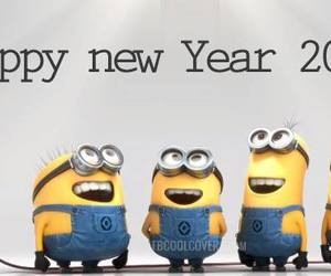 minions, 2014, and new year image