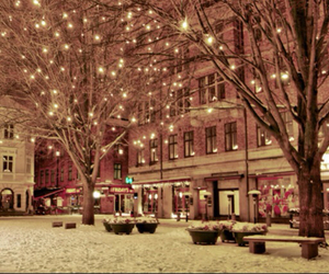 lights, shops, and pretty image