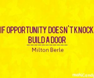 Build, opportunity, and door image