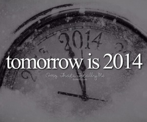 new year, 2014, and tomorrow image