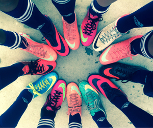 nike, soccer, and colorful image