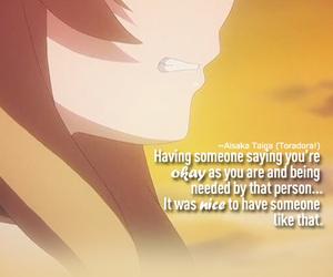 anime, toradora, and quote image