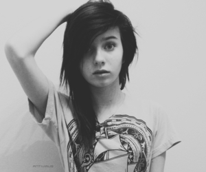 black and white, alternaive girl, and pretty image