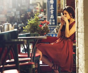 coffee, dress, and red image