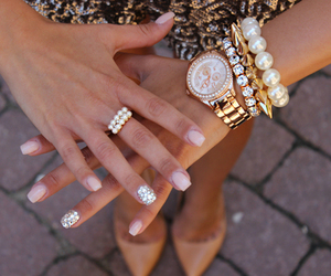 accessories, Braclets, and nail art image