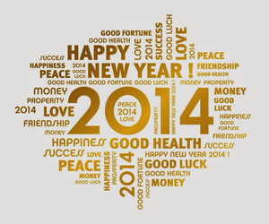 2014, new year, and happy new year image