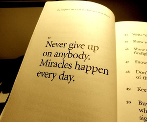 miracle, book, and quote image