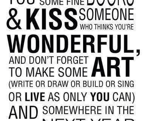 quote, new year, and art image