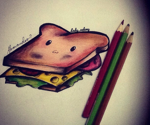 drawing, food, and pencil image