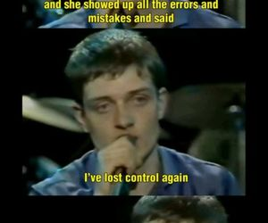 ian curtis, she lost control, and joy division image