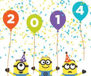 2014, minions, and new year image