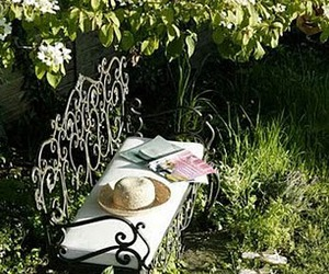 bench, design, and garden image