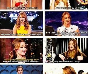 Jennifer Lawrence, funny, and girl image
