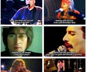john lennon, Queen, and Guns N Roses image